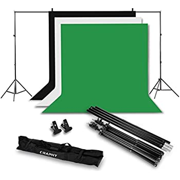 craphy photo studio muslin cotton background support stand kit backdrop kit for photography 10ftx6