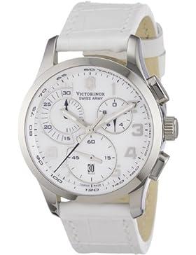 Victorinox Damen-Armbanduhr XS Classic Chronograph Leder 241321