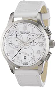 Victorinox Swiss Army - 241321 - Montre Femme - Quartz Chronographe - Bracelet Cuir Blanc