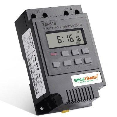 KINGDUO 220V 110V 12V 30Amp Tm616 Steuerlast 7 Tage Programmierbare Digitale Zeitschalter Relais Timer Control-12V (7 Tage Programmierbare Timer)