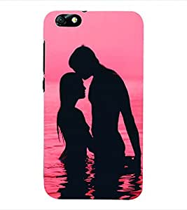 ColourCraft Valentine Love Couple Back Case Cover for HUAWEI HONOR 4X