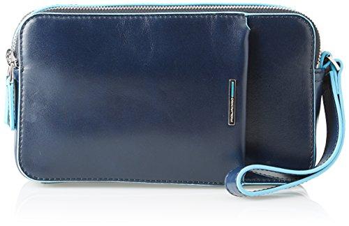 Piquadro Unisex adulto Monedero Azul Size: 5x12x21