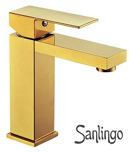 Modern Design Badezimmer Waschbecken Einhebel Wasserhahn Armatur Gold  Sanlingo
