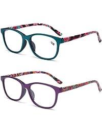 52b63c5a65 Inlefen Unisex Gafas de lectura 2 paquetes Retro Lectura Bisagra de  primavera Gafas Lectura +1.0