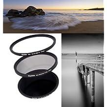 Juego de tres Filtros de HAIDA Slim Pro II 72mm - Slim Pro II MC UV y Slim Pro II CPL, y Slim Pro II ND2.7 (400x) incluyendo contenedor metálico (tapas)