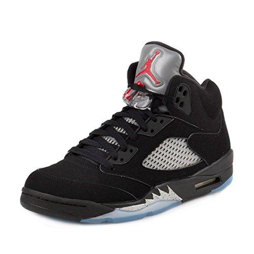 Nike 845035-003, Chaussures de Sport Homme, Multicolore-Noir/Rouge/Argent/Blanc (Black/Fire Red-Metallic Silver-White), 42 EU