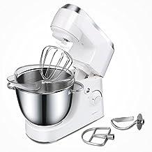 Aigostar Piccolo Mamma White 30HMA – Robot de cocina: batidora, amasadora, mezcladora. Potencia 350W, bol de acero inoxidable de 4,2 litros. Incluye 3 accesorios para amasado, batido y mezclado. Diseño exclusivo.