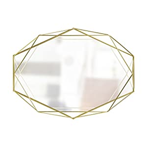Umbra Prisma Mirror Clear, Gold, one size