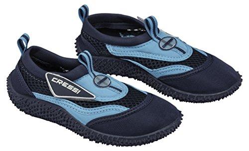 Cressi Coral Jr Zapatillas Chanclas, Unisex niños, Bleu/Azul Claro, 27