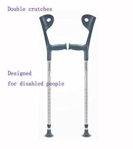 G&X Paar Gehhilfen Unterarm-Gehstützen Krücken (Einstellbare Höhe) Entworfen Für Behinderte Menschen (Paar Unterarm-gehstützen)