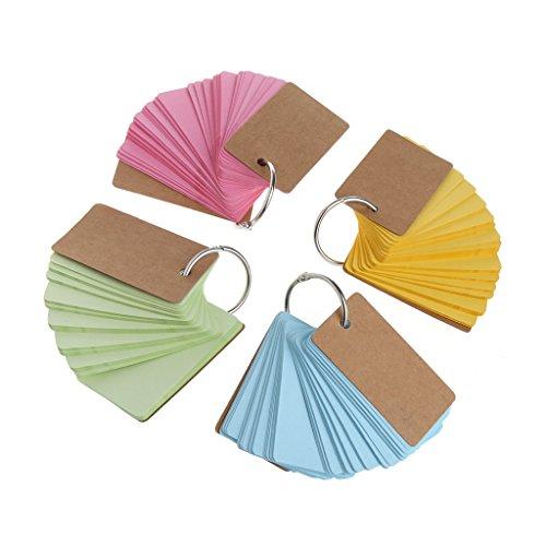 er Ring Easy Flip Flash Karten Studie Memo Pads DIY Stationery ()