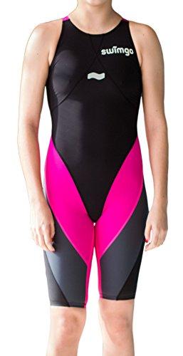 swimgo Triton I de bain de compétition, noir/gris/rose, 3x l (38)