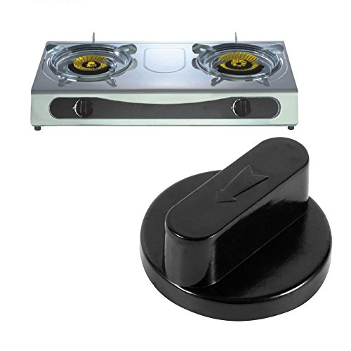 5PZ//SET 8 MM UNIVERSALE MANOPOLA KNOB RICAMBIO PER STUFE A GAS CUCINA NERO