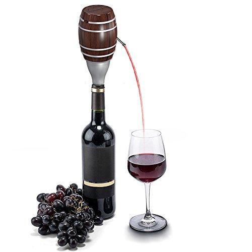 Li-Ion Elektrische Dekanter Pumpen, Li-Ion batteriebetrieben Wein Luftsprudler Dekanter Geschenk, beste Luftsprudler für rot Wein trinken, für Weihnachten Geschenk, Wandern, Camping oder Party (Rot-wein-accessoires)