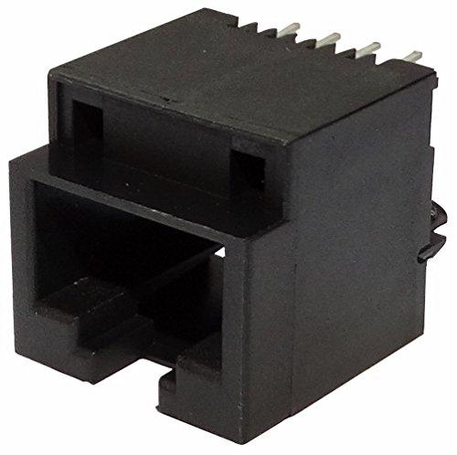 Preisvergleich Produktbild Aerzetix: 5x Ethernet-Netzwerk RJ45-Steckverbinder Buchse 8pin 8p8c Löten PCB THT
