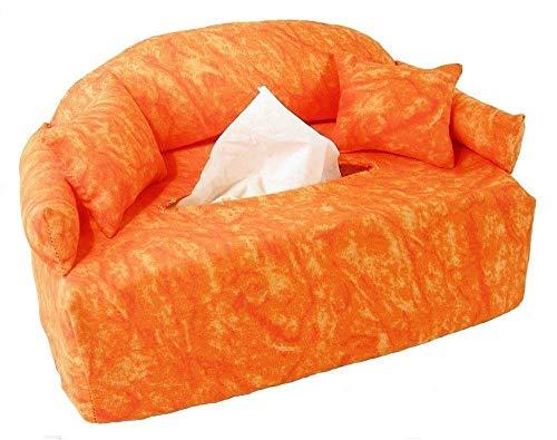 Oranges Minisofa - Taschentuchsofa - Handgefertigt -