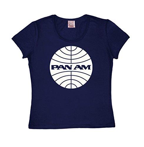 39d7309ff0ba60 Logoshirt Airline - Pan American World Airways - Pan Am Logo T-Shirt pour  Femme