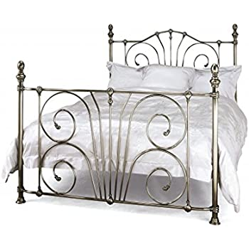 Serene Jessica 4ft Small Double Nickel Metal Bed Frame