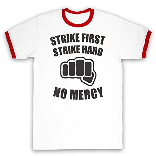 Inspiriert durch Karate Kid No Mercy Unofficial Kontrast / Ringer Shirt Weis & Rot
