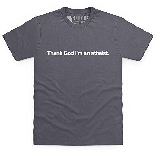 Thank God I'm An Atheist T-Shirt, Herren Anthrazit