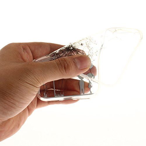 """Coque Apple iPhone X, SsHhUu Ultra Mince [Crystal Diamonds] Flexible Caoutchouc Doux TPU Étui Bumper Silicone Gel Cover pour Samsung Apple iPhone X iPhone 10 (5.8"""") Mandala Blanc Pissenlit"""
