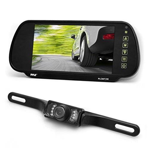 Pyle Unterstützungskamera, Rückenansicht-Monitor Parken Assistent System, wasserfeste Nachtsicht-Kamera (17,78 cm (7 Zoll) LCD-Display)