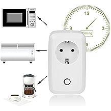 Presa Intelligente con Controllo Remoto Interruttore senza Fili per Dispositivi Elettronici tramite App che è Compatibile con Smartphone Android e iOS
