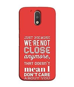 PrintVisa Designer Back Case Cover for Motorola Moto G4 :: Moto G (4th Gen) (message for all ex boy friends GF)