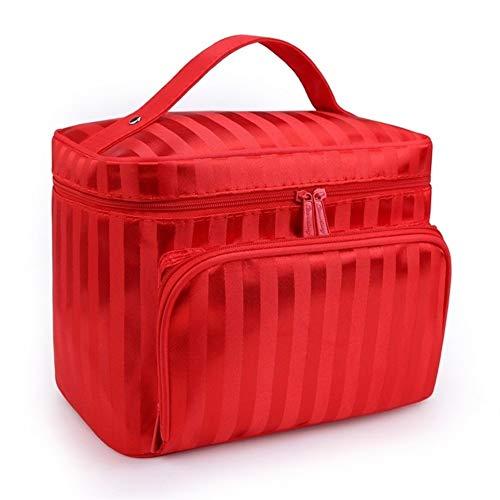 DANANGUA Kosmetiktasche Folding Travel Makeup Organizer Tasche Wasserdichte Kosmetiktasche Make-up Pinsel Fall Waschbeutel (Color : Red, Size : M) -
