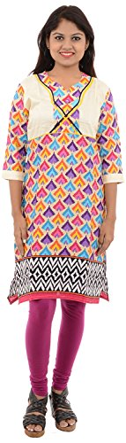 Jagadamba Sarees And Dress Materials Women's Cotton Straight Cut Kurta ( arun1001