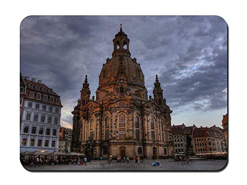Whecom Durable Gaming Mauspad - Dresden Frauenkirche Church of Our Lady Germany - Customized Rectangle Non-Slip Rubber Mousepad Gaming Gaming Mauspad 9.8 X 11.8 Inch