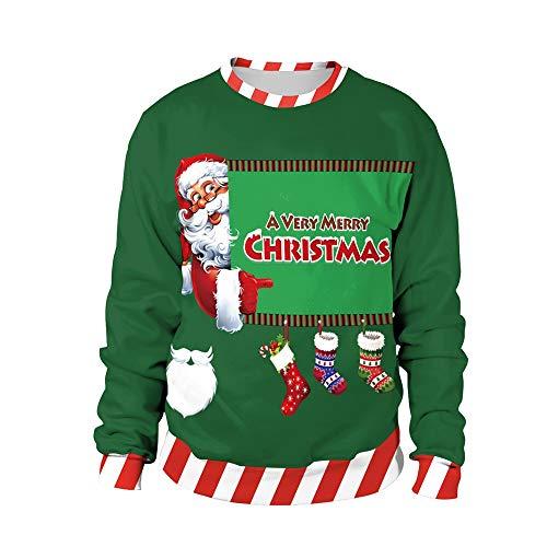Perfectii Frauen Weihnachts-Pullover, Langes Ärmel Hemd Rund Um Hals Pullover Pullover Für Xmas Geschenk Frauen Damen Teenager Party Dress-Up
