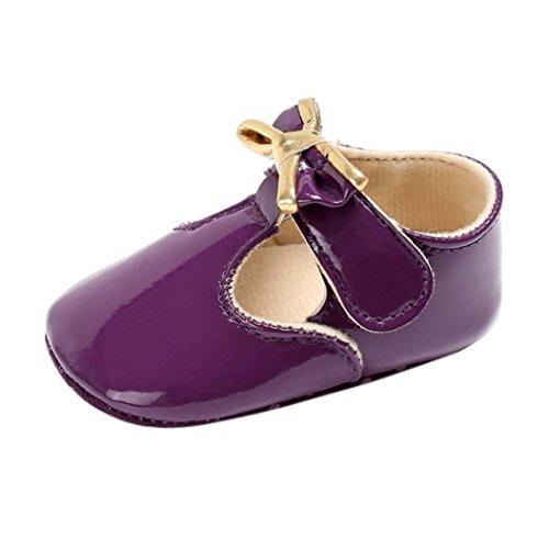 Igemy 1Paar Baby Säugling Kinder Mädchen Leder Kleinkind Neugeborene Schuhe Lila