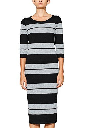 ESPRIT Damen Kleid 097EE1E003, Mehrfarbig (Black 2 002), Medium