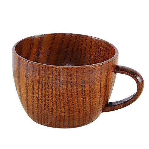 Natürliche Bad-pinsel (DOLDOA Haushalt Wohnen,Kleine handgemachte natürliche Massivholz Teetasse aus Holz Wein Kaffee Wasser Trinkbecher (BraunG))