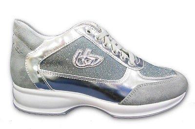 Scarpa Donna Sneaker Blu Byblos lurex grigio chiaro 40EU 662002