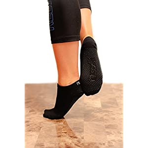 fitsoxs 2 Paare Premium Rutschfeste Yoga Socken – Bio Baumwolle – 2 Pack – Premium Yoga Socks