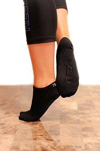 2 Paare Premium Rutschfeste Yoga Socken - Bio Baumwolle - 2 Pack - Premium Yoga Socks (Mittel - EU 39 - 40)