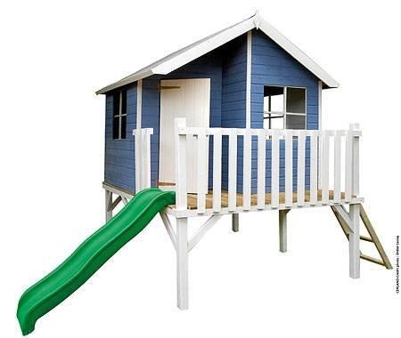 """Baumotte Spielhaus Holz – Kinderspielhaus """"Max"""" mit Rutsche Stelzenhaus"""