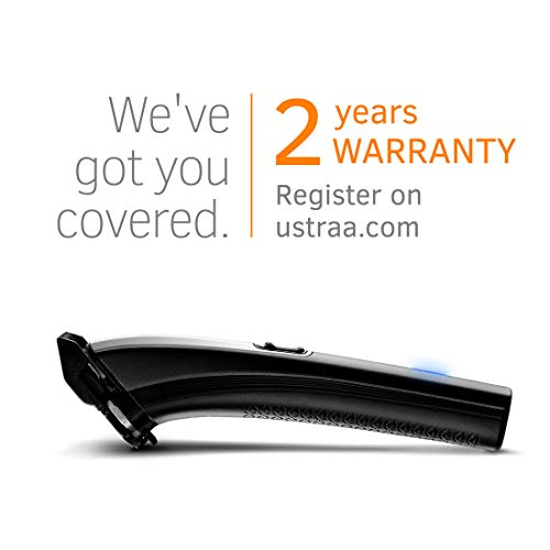 Ustraa BLACK 200 Corded & Cordless Stainless Steel Blade Beard Trimmer, Lithium-ion Battery, Up to 120 mins cordless runtime