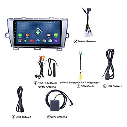 QQHHJY-4G-LTE-All-Netcom-9-Zoll-Android-80-GPS-Navigationsradio-Fr-2009-2013-Toyota-Prius-LHD-Mit-Bluetooth-USB-WiFi
