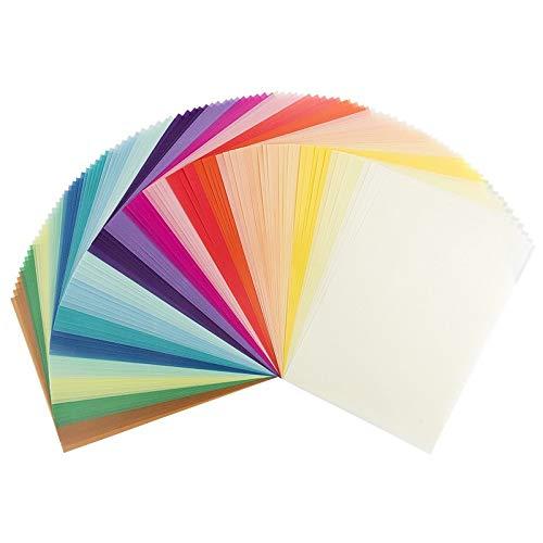 100 Transparentpapiere, DIN A4, 20 Farben, 130 g/m² | buntes Papier zum Basteln, Scrapbooking, Kartengestaltung, DIY u.v.m. -