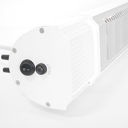VASNER Appino BEATZZ Infrarot-Heizstrahler weiß, Terrassenstrahler dimmbar 2000 W, Bluetooth, LED Backlight Licht, Musik-Lautsprecher Außenbereich - 2