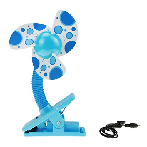 41GhxasouaL - NO1# SLEEP SOLUTIONS BAO CORE Foam Blade Baby Stroller Mini Fan Clip-on Air Cooling Fan Cooler for Baby Cot Bed Strollers Battery Powered, Blue best sleep & dream reviews Buy price uk