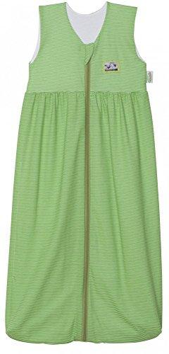 Odenwälder 1276-1974 Gr.110cm Jersey-Schlafsack Anni Streifen grün