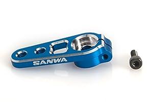 Unbekannt Sanwa 107a54262a-Aluminio Servo Horn, fijación sin Tornillos, 23, Color Azul