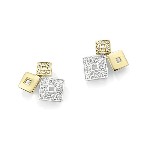 jewelco-london-ladies-9ct-white-and-yellow-gold-pave-diamond-yahtzee-cube-stud-earrings