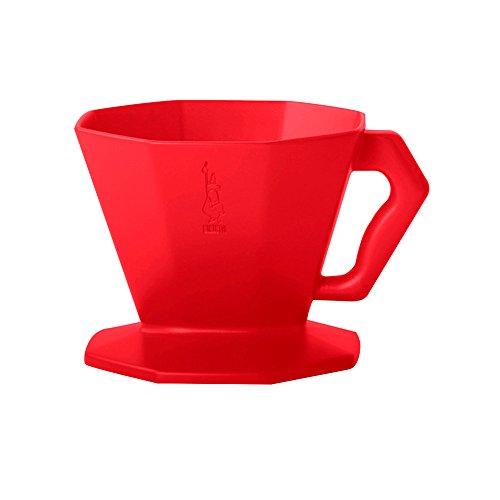 Bialetti 4912 Kaffeefilter Carlo für 4 Tassen in Kunststoff, Rot, 30 x 20 x 15 cm