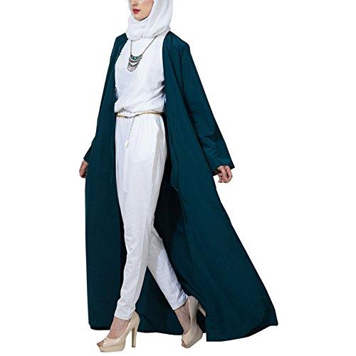 East Essence - Robe - Solid - Manches Longues - Femme bleu sarcelle
