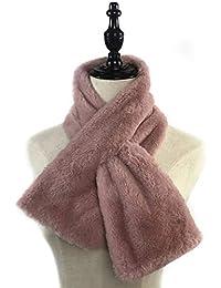 Guoyy 15x90 cm femmes hiver épaissir en peluche Faux fourrure de lapin  écharpe collier châle col 86552e1e0c3